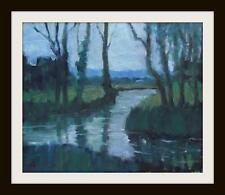 Meeting of the Waters :  Original Impressionist Oil Painting by David Baxter