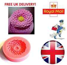 Flower Lotus Shape Silicone Mould Fondant Cake Topper Modelling Tools Mold - UK