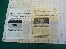 Vintage CLEAN papers: The North Country News vol 11-4 & volume 1 #1 from 2-28-74