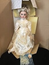 "23"" antique repro bisque FRENCH BEBE JUMEAU VICTORIAN BRIDE DOLL FRANKLIN MINT"