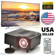 5000 Lumens LED LCD 1080P Home Theater Cinema Multimedia Projector HDMI USB US