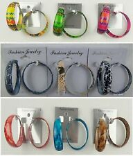 Wholesale Jewelry lots 9 pairs Fashion Colorful  Hoop Earrings US-SELLER SU-200