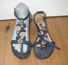 Alma en pena sandalias zapatos sandalias de cuña talla 38 azul chanclas wildled
