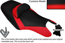 BLACK & RED CUSTOM FITS YAMAHA T MAX 500 10-14 DUAL LEATHER SEAT COVER