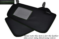 GREEN STITCHING FITS HYUNDAI GETZ 2008-2011 2X SUN VISORS LEATHER COVERS ONLY