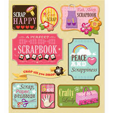 K&COMPANY STICKER MEDLEY SCRAPBOOKING LOVE TO SCRAPBOOK DIMENSIONAL 3D STICKERS