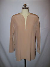 Classic Chic Vince Nude/Taupe Silk Tunic Top/Shirt/Blouse Sz.S
