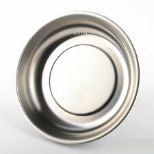 """Magnetic Parts Bolts Holder Tray 6"""" Dish Round Tools Stainless Steel Organizer"""