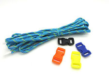 1pcs Camping Hiking Survival Paracord Rope 7 Core Strand 2.4M buckle blue yellow