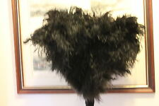 NEW SKIRTING BOARD HEAVY DUTY LARGE OSTRICH FEATHER DUSTER WOOD STAIND HANDLE