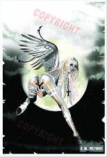 """Erotic ART poster """"ANGEL GIRL""""  90x62cm."""