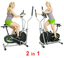 Upright Exercise Bike Elliptical Fitness Machine Equipment Cardio Workout Gym
