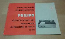 USADO - Manual Instrucciones GRABADORA PHILIPS  - Item For Collectors