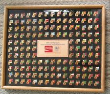 COCA COLA COKE 1984 OLYMPIC 150 FLAG PIN SET SERIES L E