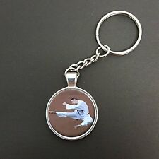Karate Martial Arts Pendant On A Split Ring Keyring Ideal Birthday Gift N450