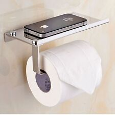 New Toilet Paper Holder Wall Mounted with Phone Holder SUS 304 Stainless Steel