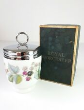 ROYAL WORCESTER - 1969 - EGG CODDLER - RASPBERRY FLOWERS & FRUIT - 11CM - BOXED