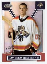 Jay Bouwmeester Blues Panthers 2002-03 Exclusive Autograph Rookie Card #198 NrMt