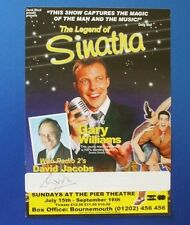 THEATRE FLYER THE LEGEND OF SINATRA SIGNED BY DAVID JACOBS