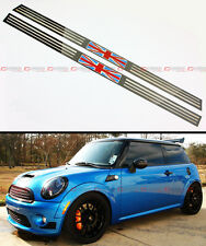 FITS 07-2014 R56 R57 MINI COOPER S UNION JACK LOGO POLISHED ENTRY DOOR SILL TRIM