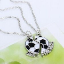 New Best Friends Forever Charm 2Pcs Half Soccer Necklaces Children Gift