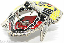 Man Mens Animal Tiger Leopard Design Enamel Buckle Rock Punk Belt Buckles