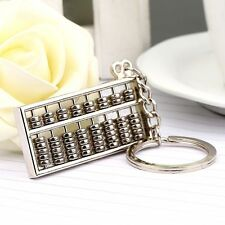 Chinese Ancient Accounting Calculator 8 Rows Abacus Keychain Key Chain Ring Fob