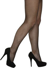Women Ladies Fishnet Net Pattern Burlesque Hoise Pantyhose Black Tights One Size