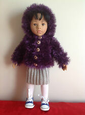 "Dolls Fashion clothes knitting  pattern to fit 18""or 19"" doll.  EASY KNIT"