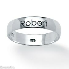 MENS STERLING SILVER PERSONALIZED NAME RING  SIZE 6 7 8  9 10 11 12 14 15 16