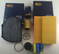 FILTER SET OIL AIR ACTIVE CHARCOAL FUEL W202 S202 200 220 CDI