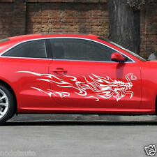 Car Decal Vinyl Graphics body stickers Side Decals Tribal Dragon for A5 #02