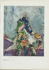 "1963 Vintage ""EQUESTRIENNE, 1927"" by MARC CHAGALL COLOR Art Plate Lithograph"