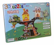 Cabane dans les arbres Maison jouet Animaux 3D Enfants Puzzle Jeu de NEUF LX-347