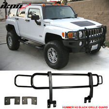 06-09 Hummer H2 H2T SUT SUV Front Black Guard Brush Grille Grill Double Bars