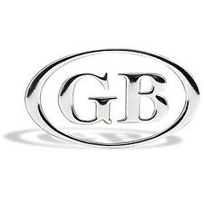 ROVER 25 45 75 200 600 CHROME SILVER GB OVAL CAR BADGE SELF ADHESIVE 100 x 60mm