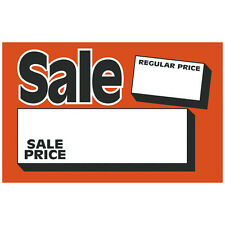 "100 SALE 3.5"" x 5"" Regular Price Sale Price Retail Value Sale Signs Cards"