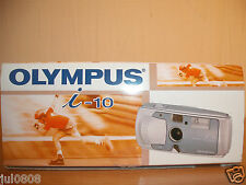 NEW OLYMPUS i-10 APS FILM CAMERA ~CAMERA CASE~BATTERY~STRAP~INSTRUCTIONS 14JN13