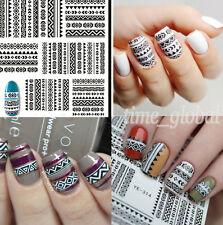 1 sheet Tribal Geo Pattern Nail Art Water Decals Transfer Stickers Accessories