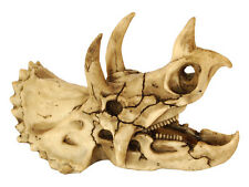 Triceratops Dinosaur Skull Fish Cave Aquarium Ornament Terrarium Decoration