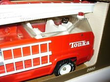 VINTAGE TONKA AERIAL LADDER FIRE TRUCK MIB 2960 PRESSED STEEL BOXED DEPT XR-101