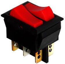 Interrupteur commutateur contacteur bouton bascule rouge SPDT x2 ON-ON 10A/250V