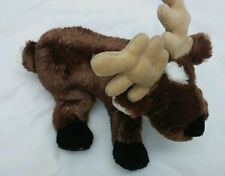 "GANZ WEBKINZ REINDEER 9"" Soft Plush Brown with White Black Feet Nose Clean EUC"