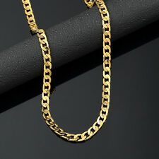 Mens 18K Yellow Gold Plated 24in Cuban Chain Necklace 4.7 MM