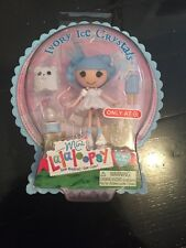 "*IVORY ICE CRYSTALS* Mini LALALOOPSY*  3"" CHRISTMAS 2012 TARGET Exclusive!*"