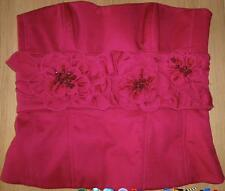 Karen Millen Red Applique belt bustier UK Size 10