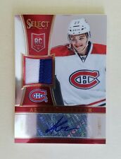2013/14 Select Alex Galchenyuk Auto Autographed PATCH Jersey Rookie RC Card /50