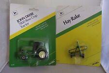 ERTL John Deere 7800 Tractor & Hay Rake 1/64 Scale #5538 & # 5751 New, Lot of 2