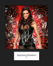 STEPHANIE MCMAHON #1 (WWE) Signed (Reprint) 10x8 Mounted Photo Print - FREE DEL