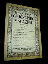 ANTIQUE NATIONAL GEOGRAPHIC November 1918 OUR FRIENDS THE FRENCH Russia Religion